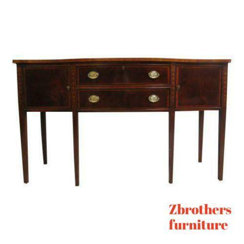 Ethan Allen 18th Century Mahogany Chippendale Sideboard Buffet