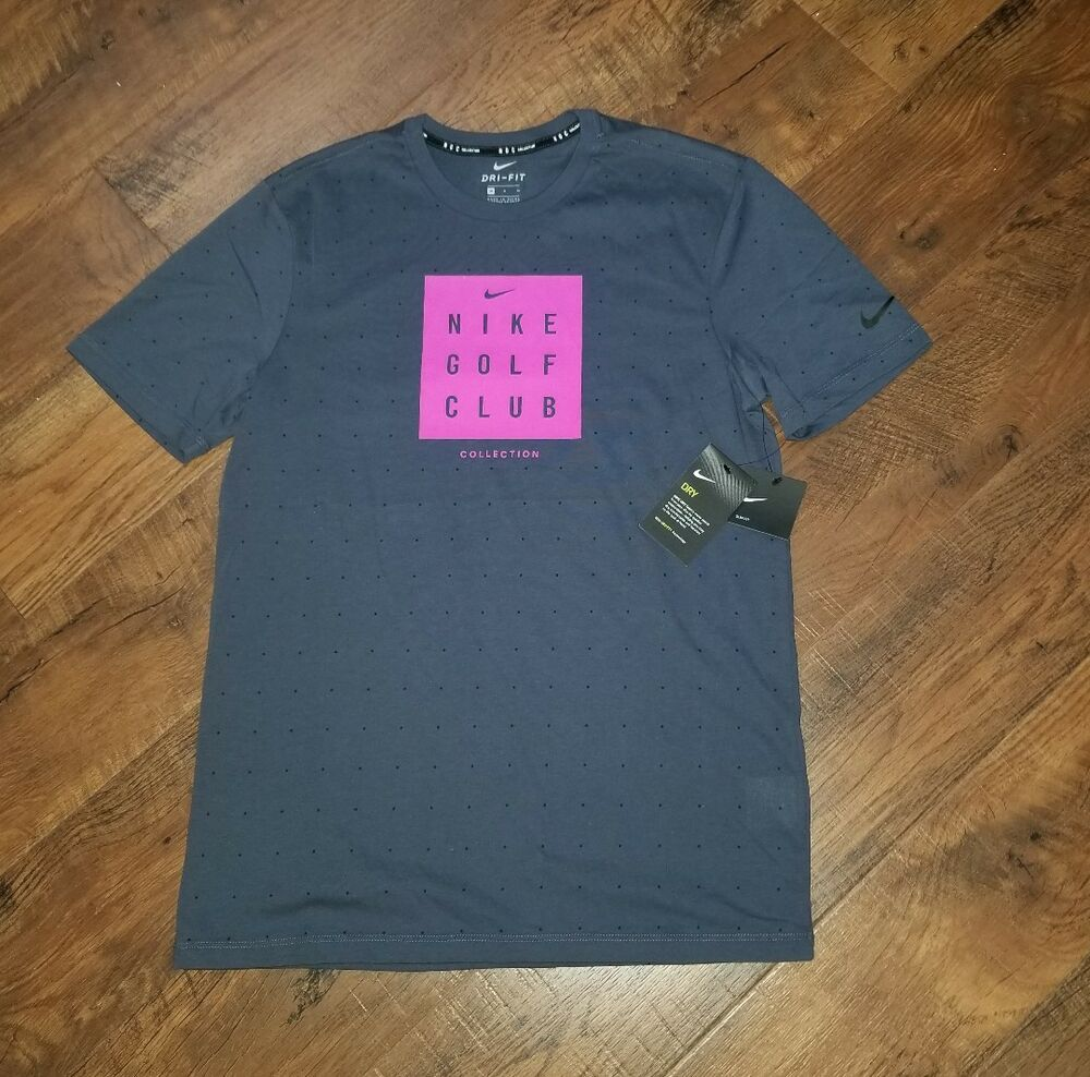 667b4fc7a2200 Details about Nike Golf Club Collection Men s Slim T-shirt M Blue Pink  Training Gym Casual
