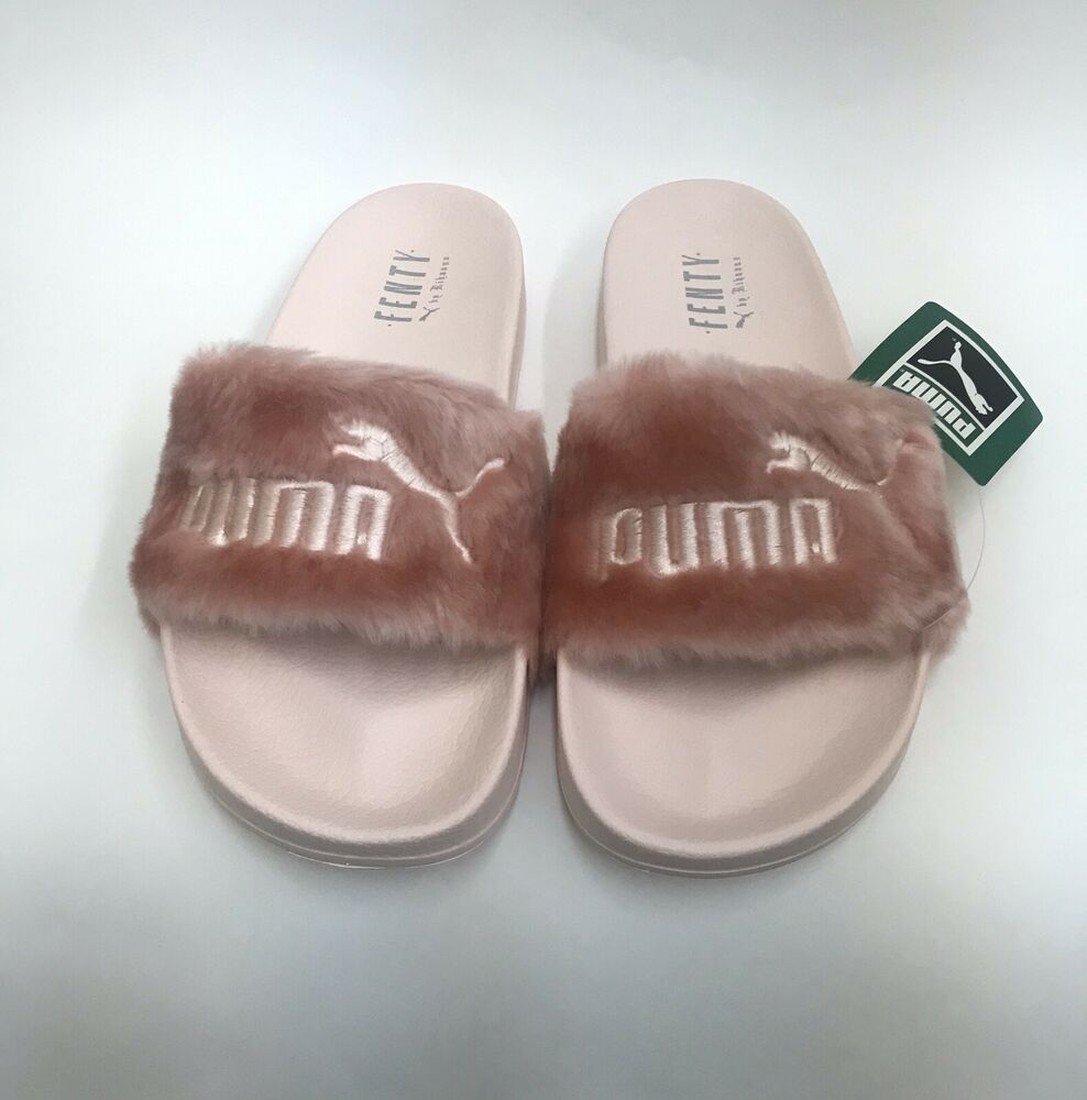 fad6fa7a9038 Details about New Puma Womens Size 10.5 Leadcat Fenty By Rihanna Slides  Riri Pink 362266-04
