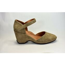 L AmourDesPieds Orva Taupe Suede Leather Wedge Sandal Size 9 M Retail Price $198