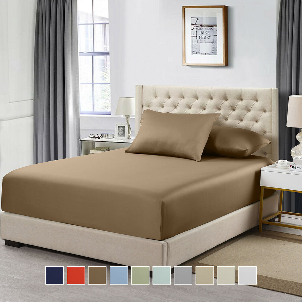 Details About Split Top California King Ed Solid Sheet 100 Cotton 600 Thread Count Sheets