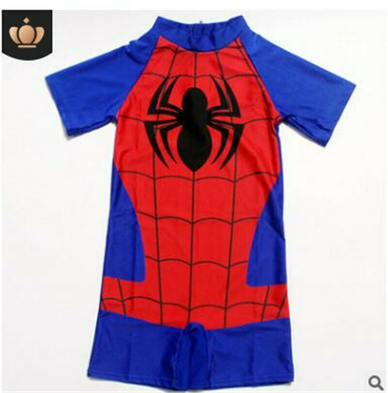 dec1c5c7b9 Details about Boys Kids Swimwear Spiderman Swimming Costume Swimsuit Spider- Man rash guards UK
