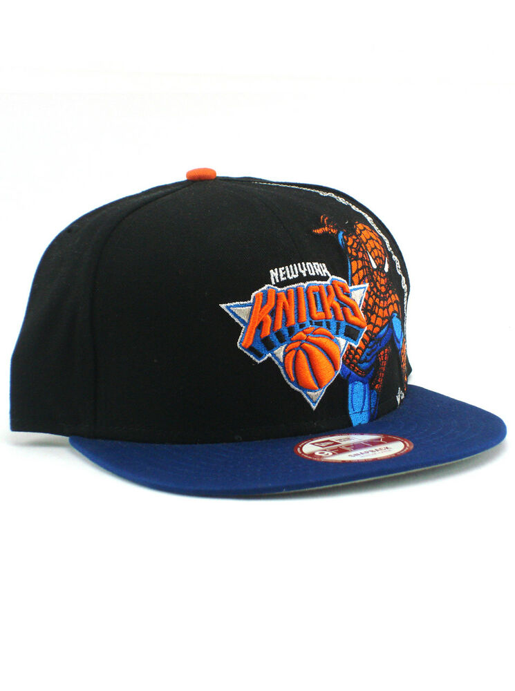 best authentic 8e163 5e9a4 Details about New Era NBA New York Knicks 9fifty Snapback Hat Spider-Man  Adjustable Black
