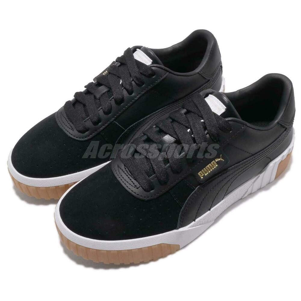 f77e68bfd87d Details about Puma Cali Exotic Wns Black White Gold Gum Women Casual  Lifestyle Shoes 369653-03