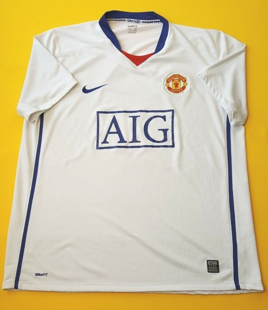 b805067bb74 Details about 4.2 5 Manchester United jersey XL 2008 2009 away shirt Nike  soccer football ig93