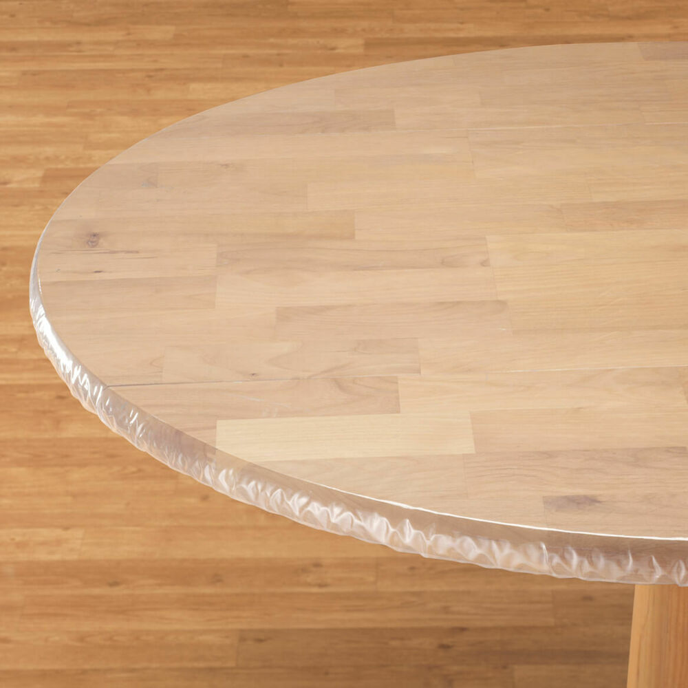 Oval Oblong Elasticized Tablecloths Clear Table Cover