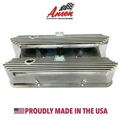 Ford FE All Finned Tall Valve Covers Polished - Die-Cast Aluminum - Ansen USA