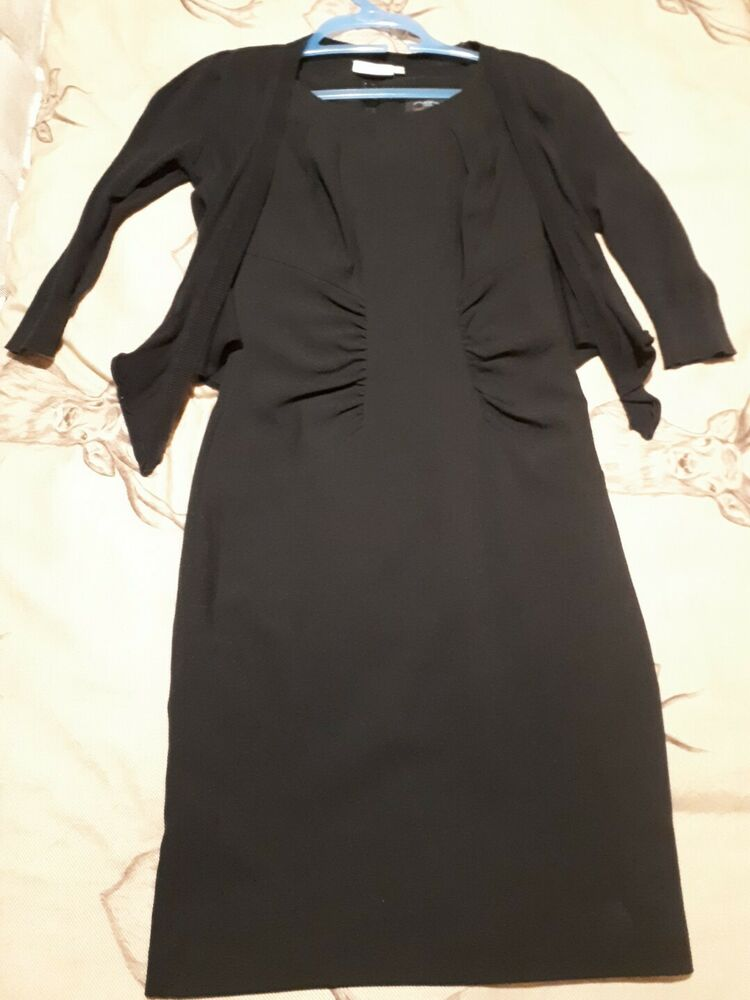d411f92d566 ladies size 8 black dress   cardigan work interview office Newlook short  sleeves