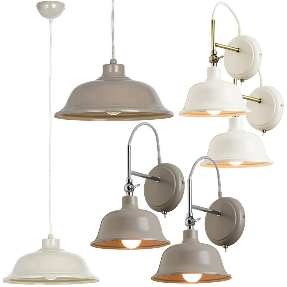 Details about industrial modern indoor lighting sets cream or grey matching wall ceiling lamps