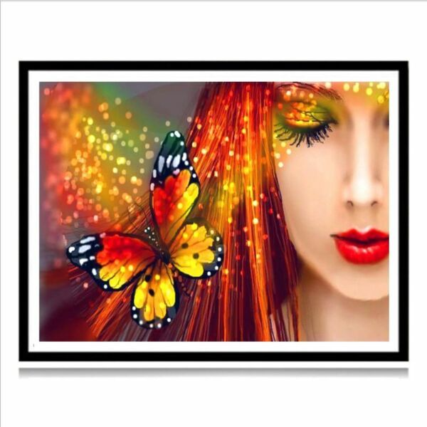Beauty Butterfly 5D Full Drill Diamond Painting Embroidery DIY Cross Stitch Kit