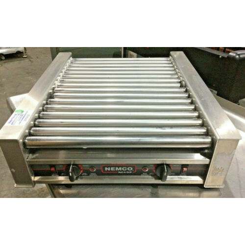nemco-8045n-narrow-hot-dog-roller-grill-45-hot-dog-capacity