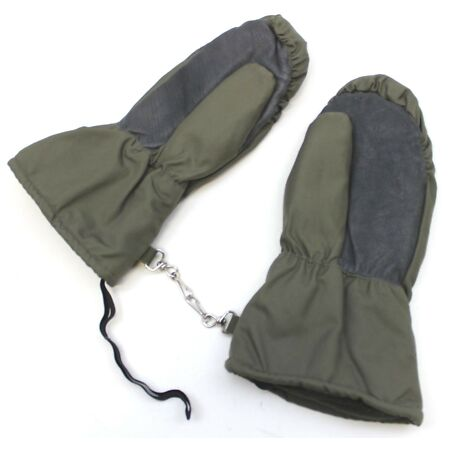 img-GERMAN ARMY WATERPROOF GLOVES / MITTS FLEECE LINED in OLIVE GREEN