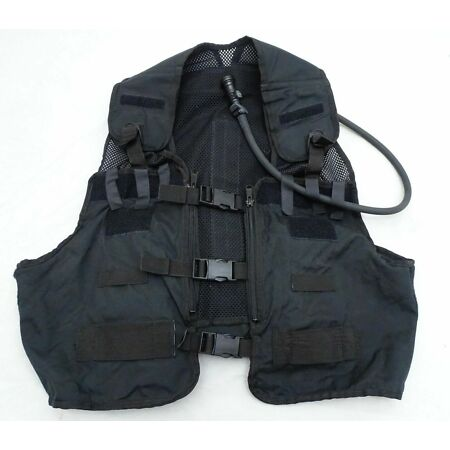 img-Black Remploy Frontline Hydration Tactical Vest MK2 Pouch And Camelbak Bladder