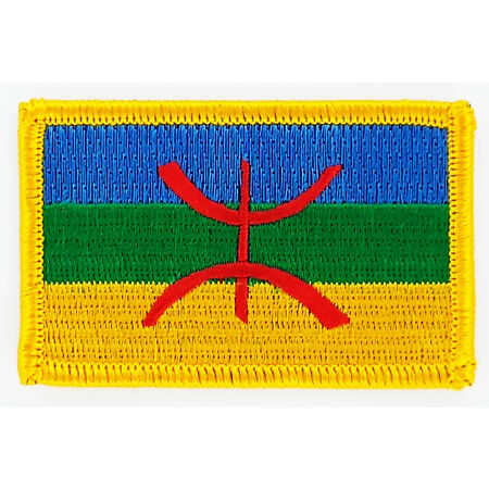 img-PATCH ECUSSON BRODE DRAPEAU KABYLIE KABYLE INSIGNE THERMOCOLLANT NEUF PATCHE