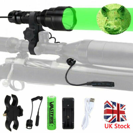 img-T6 LED Flashlight Tactical Light Torch White Green Red Hunt Lamp 50000LM 10x XML