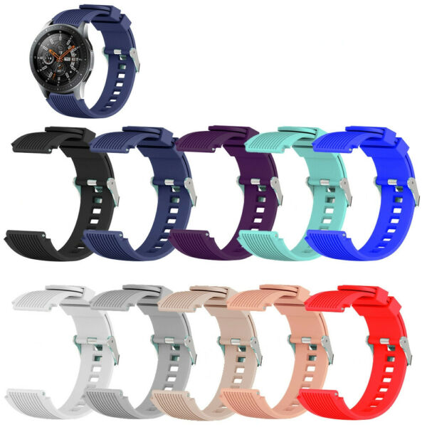Bracelet pour Samsung Galaxy Watch 46mm Remplacement Sangle Bande Silicone Strap