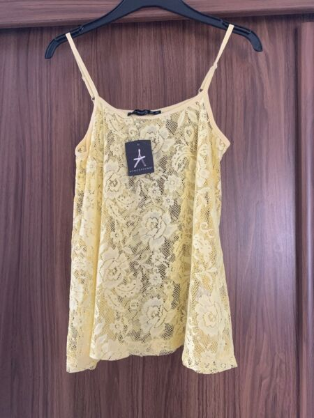 BNWT BEAUTIFUL YELLOW LACEY CAMISOLE 10