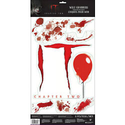 IT Chapter 2 movie  PENNYWISE HALLOWEEN wall stickers 9 decals blood red balloon