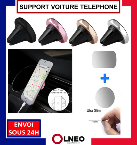 SUPPORT VOITURE TELEPHONE MAGNETIQUE UNIVERSEL AIMANTE IPHONE SAMSUNG HUAWEI