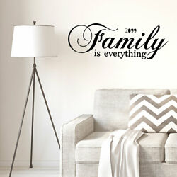 Family Text Pattern Wall Sticker Removable Art Decals for Home Living Room
