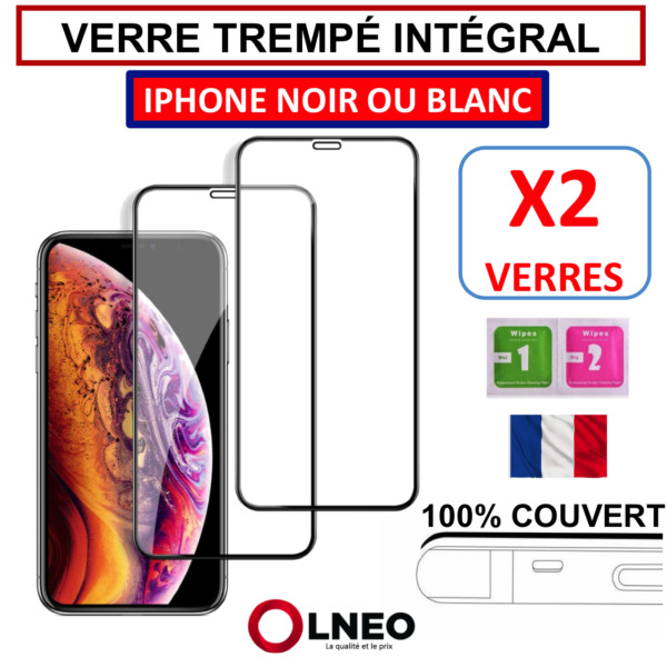 VERRE TREMPE IPHONE VITRE PROTECTION INTEGRAL D'ECRAN 6 6S PLUS 7 8 X XR XS MAX