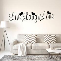 Live Laugh Love Text Pattern Wall Sticker Removable Decals for Home Living Room