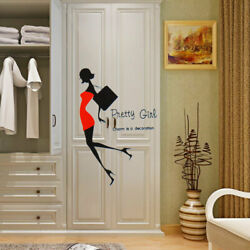 Fashion Lady Pattern Wall Stickers Removable Art Decal for Bedroom Living Room