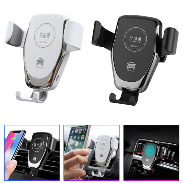 Qi Car Wireless Charger Auto Clamp Fast Wireless Charging Holder Mount for Phone