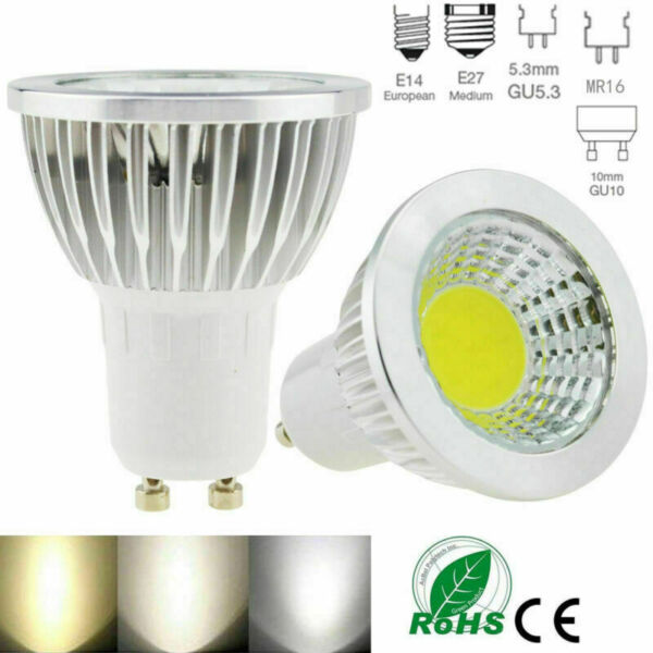 Dimmable LED Spotlight Bulb GU10 MR16 6W 9W 12W 15W COB Lamp LED Bulb