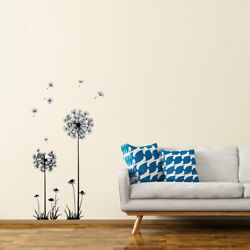 Black Dandelion Wall Stickers Self-stick Artificial Decal for Bedroom