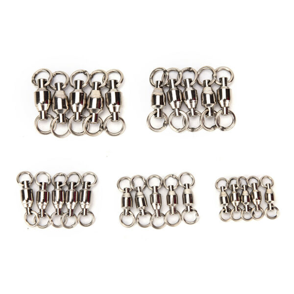 20x ball bearing swivel with solid ring fishing rolling swivel connector T+q