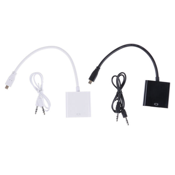 Micro hdmi male to vga female video converter adapter cable for pc tv hdtv n jb