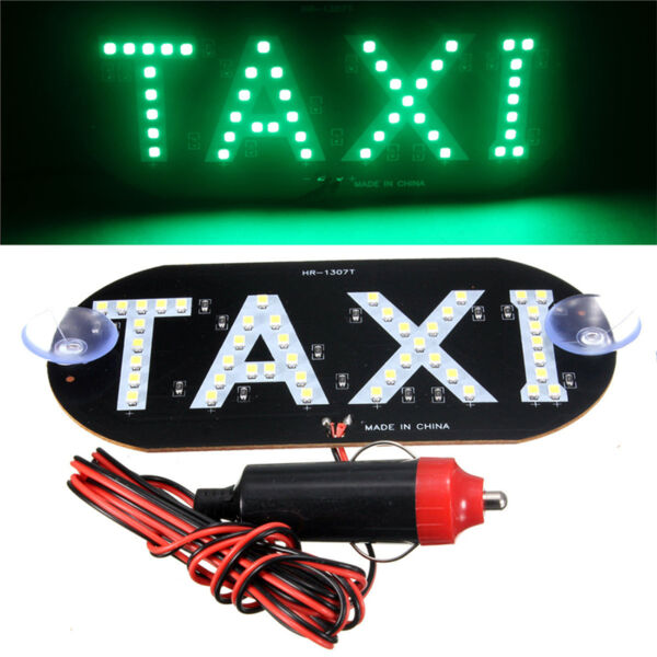 Auto Green 45 LED Cab Taxi Roof Sign Light 12V Vehical Inside Windscreen Lamp·n