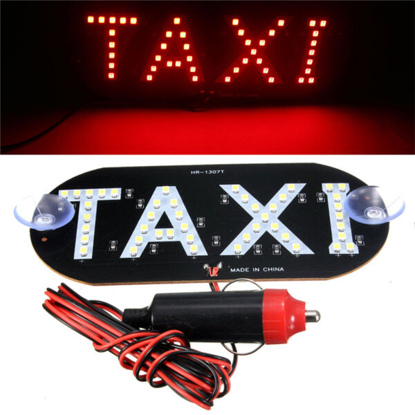Auto Red 45 Led Cab Taxi Roof Sign Light 12V Vehical Inside Windscreen Lamp ~*