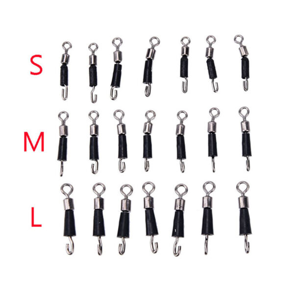 10X Ball Bearing Swivel Solid Rings Quick Fast Link Fishing Connector Hooks~o