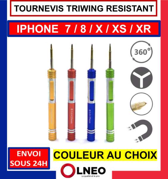 TOURNEVIS TRIWING Y 0.6 OUTILS POUR IPHONE 7 / 8 / X / PLUS / APPLE WATCH