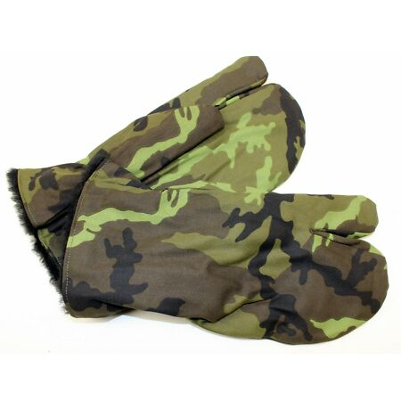 img-CZECH ARMY GLOVES / MITTS FLEECE LINED in M95 CAMO WATER RESISTANT