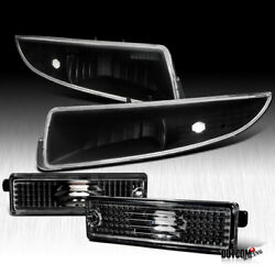 Kyпить 1993-2002 Chevy Camaro Front+Rear Side Marker Black Signal Lamps Bumper Lights на еВаy.соm