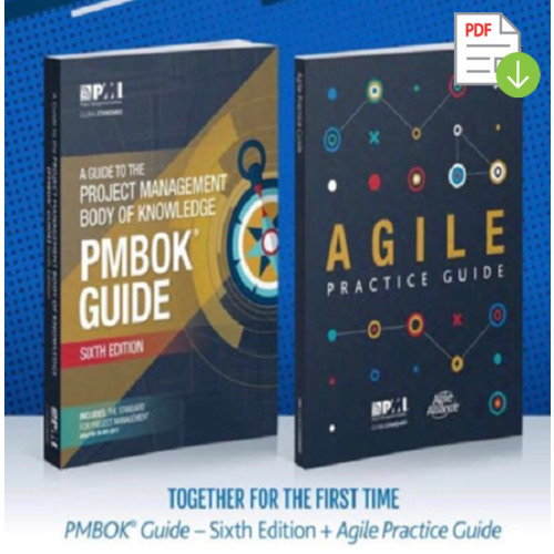 PMBOK Guide 6th Edition + Agile Practice Guide - P.D.F. [High Quality] 🎓📚☁️