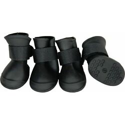 New Elastic Protective Waterproof Rubberized Dog Boots Shoes Booties A3405