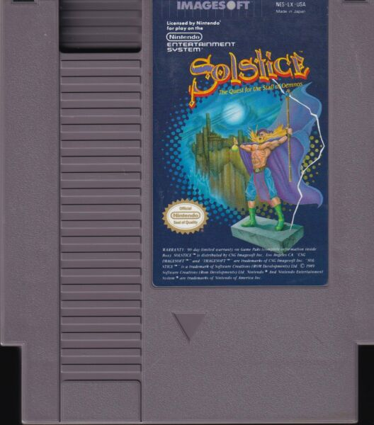 SOLSTICE: QUEST FOR THE STAFF OF DEMNOS (1990) nes nintendo us NTSC USA IMPORT