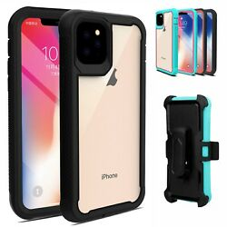 Kyпить For iPhone 11 Pro Max ,12 Pro ,11 Case Hybrid Heavy Duty Clear Belt Clip Cover на еВаy.соm