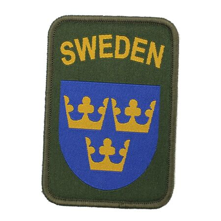 img-SWEDISH ARMY THREE CROWNS SLEEVE PATCH / TEXTILE BADGE