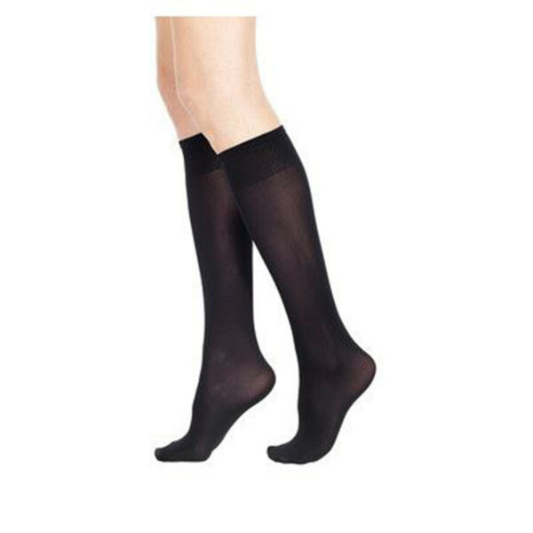 Italie2 Pairs Opaque  Elasticized Socks 50 Den Microfibre one size Black
