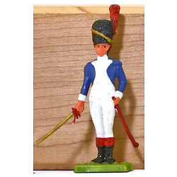 Cofalu Napoleonic French Grenadier Officer - Painted Plastic Soldier mint 1960s