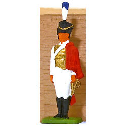 Cofalu Napoleonic French Hussar - Painted Plastic Toy Soldier mint 1960s