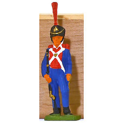 Cofalu Napoleonic French Voltigeur - Painted Plastic Toy Soldier mint 1960s