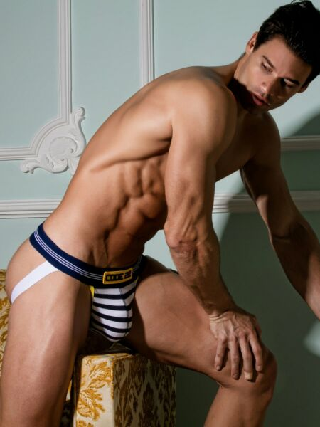 AllemagneCode 22 Sexy  1703 String Homme Jock Tanga Slip Rayures Marins