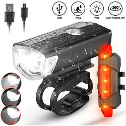 Kyпить USB Rechargeable LED Bicycle Headlight Bike Head Light Front Rear Lamp Cycling на еВаy.соm