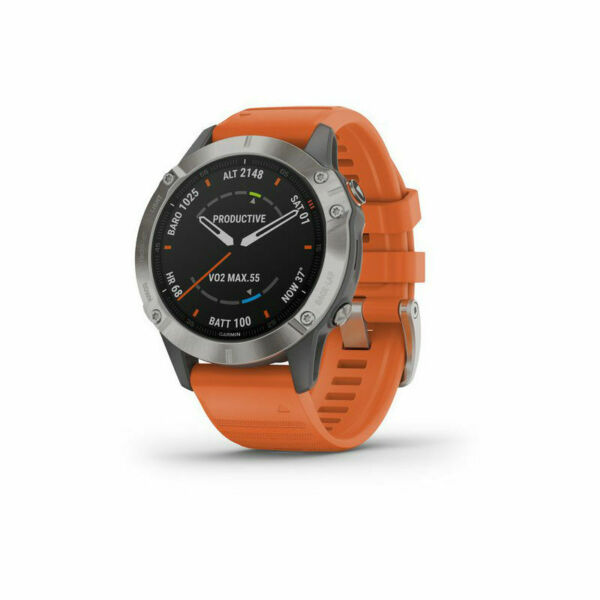 GARMIN FENIX 6 SAPPHIRE smartwatch gps multisport ORANGE art.010-02158-14